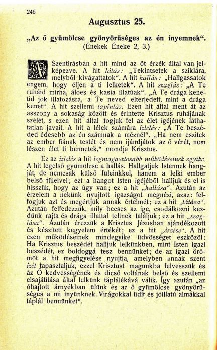08.25. Spurgeon: Harmatgyöngyök...