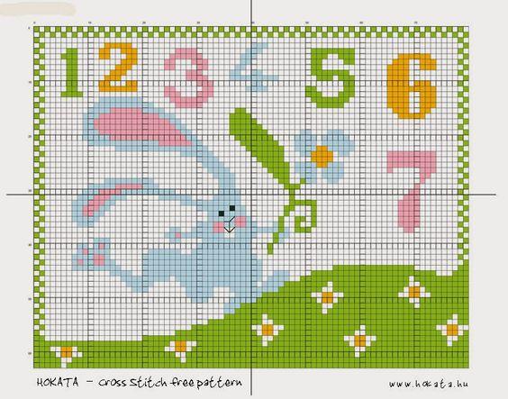 HOKATA MESÉS VILÁGA - BLOG: Húsvétig még megvarrhatod - Cross Stitch free pattern