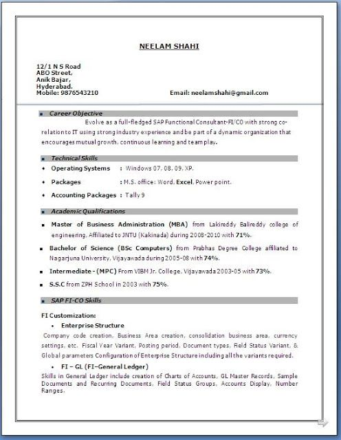 Resume Format 20 Years Experience Resume Templates Sample Resume Format Resume Format Resume Format In Word