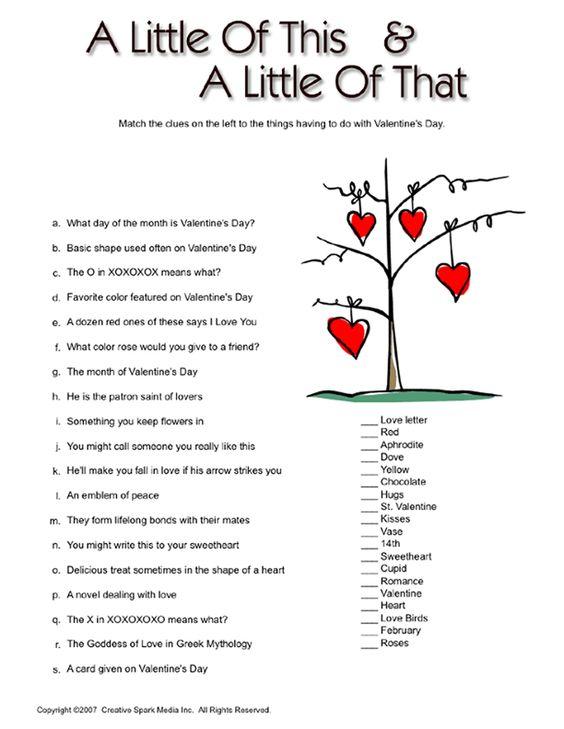 valentine history quiz