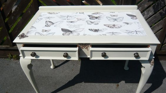 Vintage Desk/Dressing Table - reworked and upcycled.