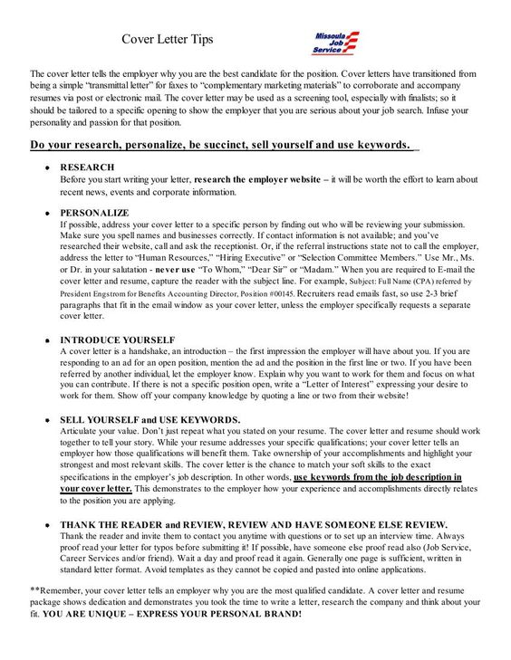 Cover Letter Mistakes That Will Kill Your Chances - what does a cover letter contain