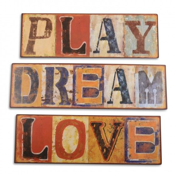 Wall Mountable Metal Sign with Weathered Effect Font Design - Three Designs Available #homedecor #homeideas www.home33accessories.co.uk