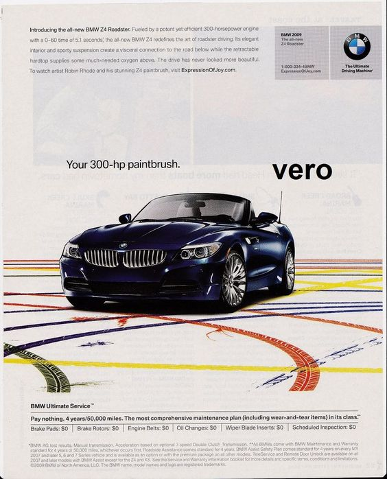 2009 Bmw Z4 Convertible: 2009 Magazine Ad BMW Z4 ROADSTER Introduction Print