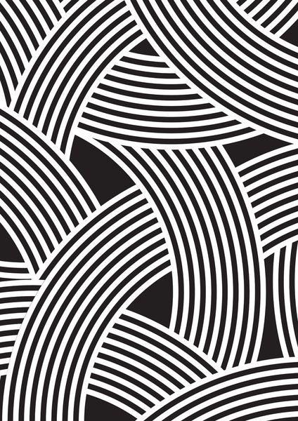 Modern Scandinavian B&W Black and White Curve Graphic Memphis Milan Inspired Art Print