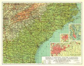 North Carolina South Carolina Georgia And Eastern