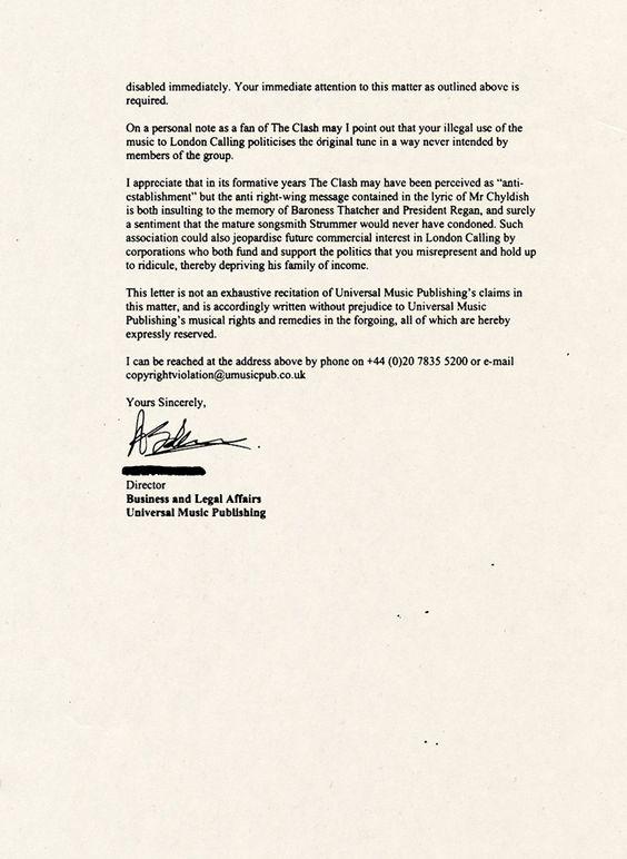 CTMF THATCHERu0027S CHILDREN Cease and Desist Letter PAGE 2 #FAVE - cease and desist form