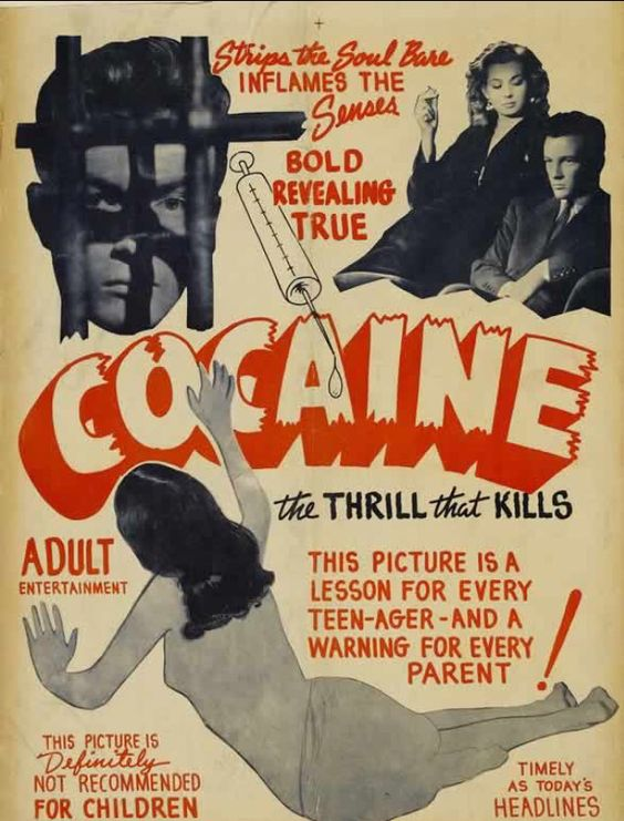 Cocaine. It was a movie representing drug use. This is when drugs starting taking off. It was used as a method of fun. This movie gave teens a realistic view of why it could do to them.