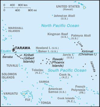Country Maps: Kiribati Map