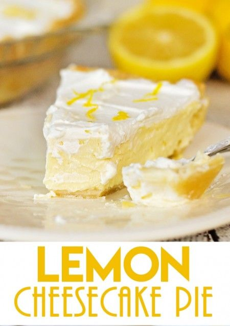 Cheesecake pie, Lemon cheesecake and Cheesecake on Pinterest