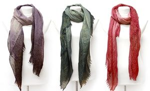 Groupon - K&J Ombre Glitter Scarves. Multiple Colors Available. Free Returns. in Online Deal. Groupon deal price: $11.99