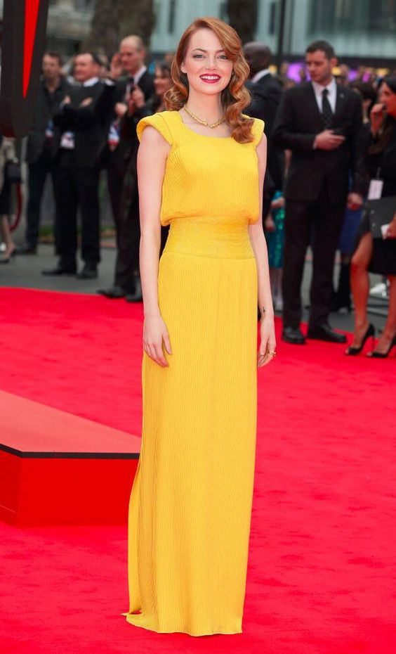 Yellow Atelier Versace gown