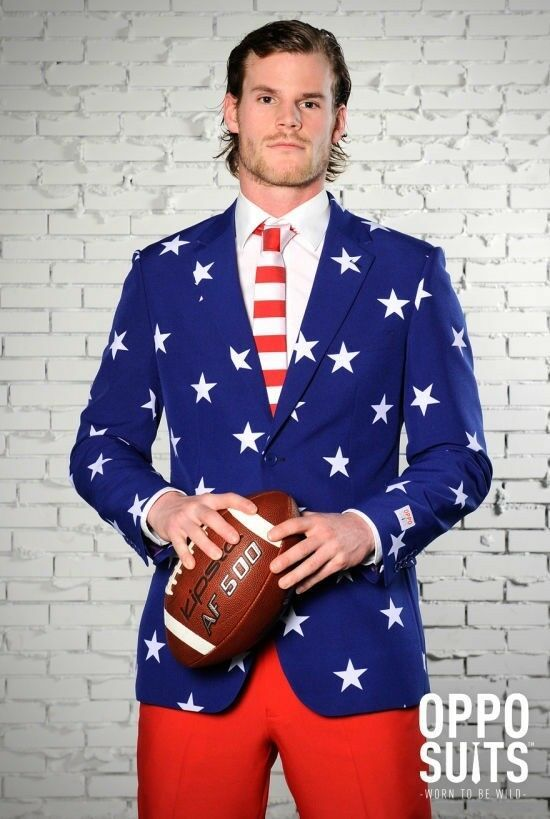 Brand New American Stars and Stripes Suit Adult Costume