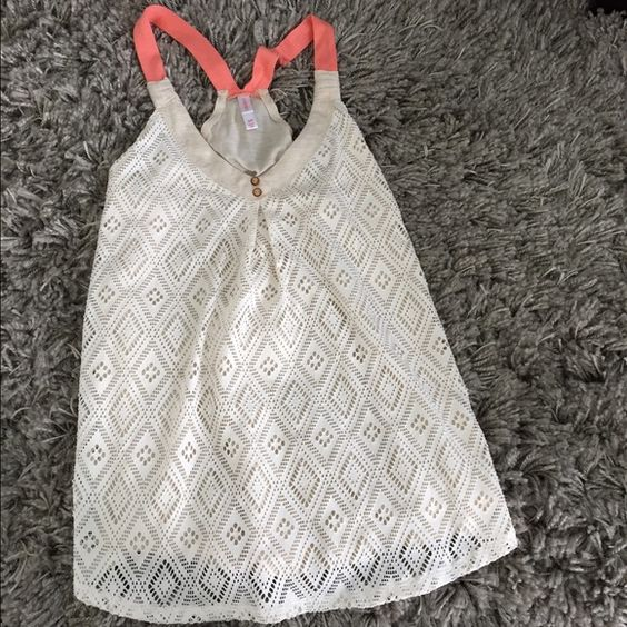 Crochet Tank Top Sz S Excellent Cndtn ! Crochet Tank Excellent Condition ! Worn maybe 2 times ...Size Small Xhilaration Tops Tank Tops