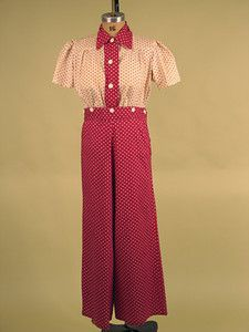 Lady's Cotton Lounging Set, 1930s: