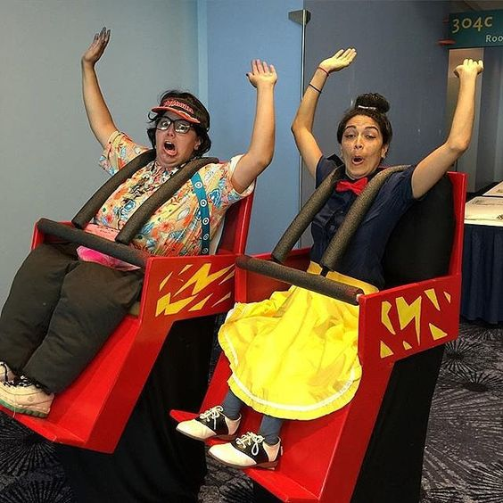 Aren't these Roller Coaster costumes genius?!