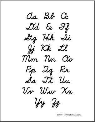 cursive writing worksheet... since the schools won't teach cursive ...