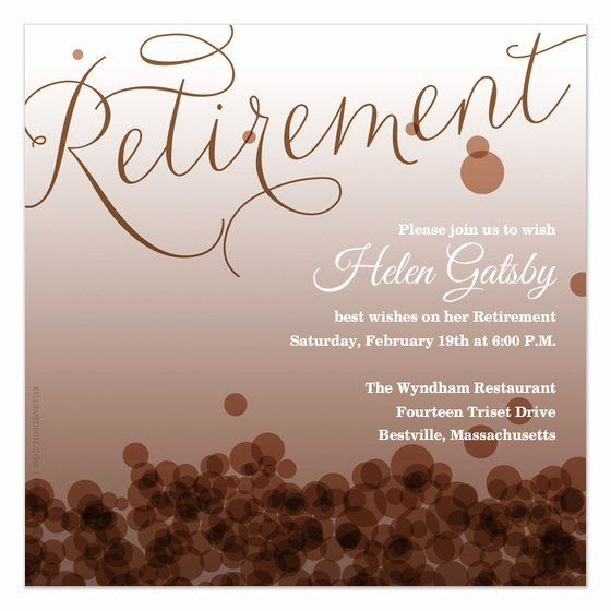 35 Retirement Party Invitation Template Free In 2020 Retirement