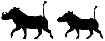 Image result for silhouette warthog