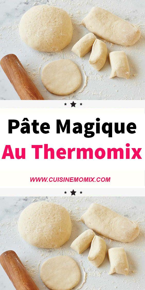 Idée Repas Thermomix Pâte magique au thermomix | Recette thermomix rapide, Livre de