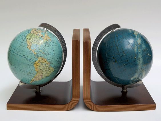 Buchstützen Columbus Erd Globus Himmelsglobus Oestergaard 50er 60er Design | eBay