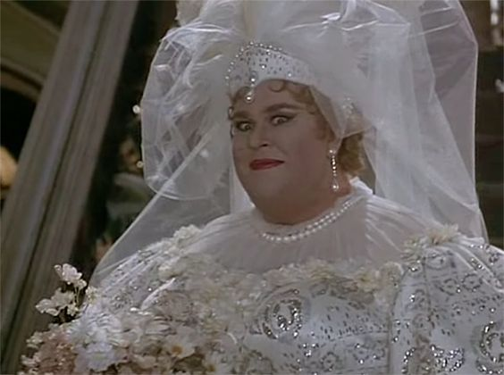 """Here's John Candy in a wedding dress. 