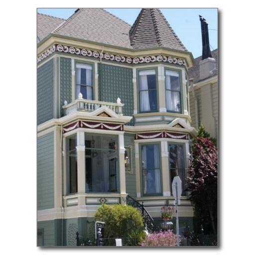 Viktorianisches Haus in San Francisco Postkarte