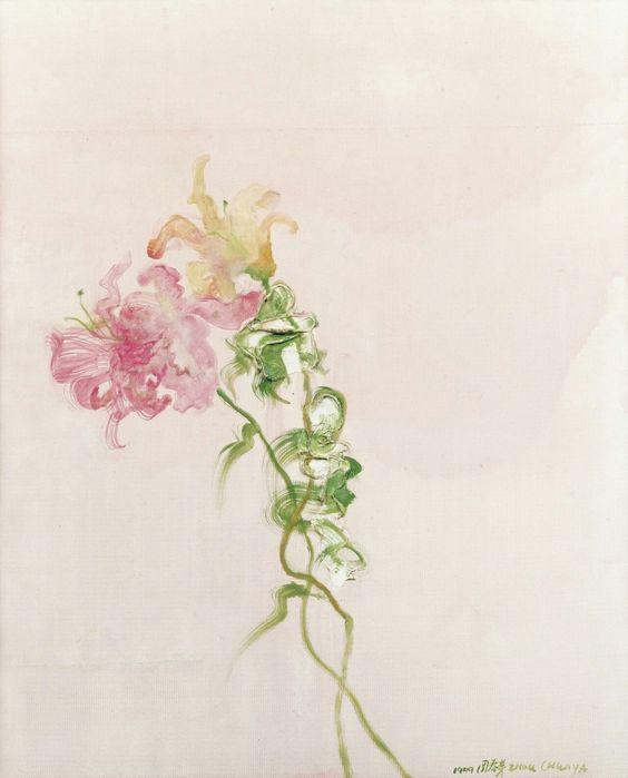 Zhou Chunya (Chinese, b. 1955),Flowers, 1999. Oil on canvas, 78 x 65 cm.
