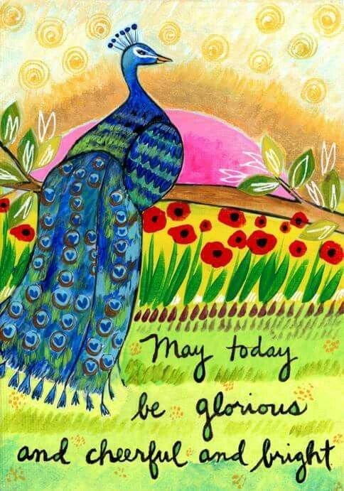 May today be glorious and cheerful and bright. ~ Lori Portka #YogaInspration