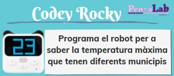 CODEY ROCKY – Quina temperatura hi ha a…?
