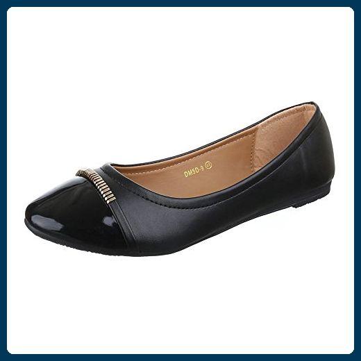 Geox D Lola 2Fit Black, Schuhe, Flache Schuhe, Ballerinas, Schwarz, Female, 36