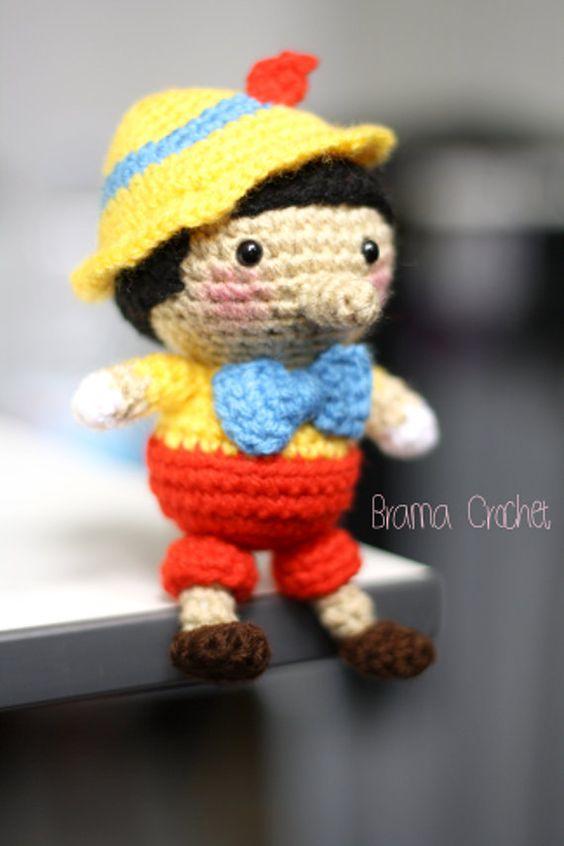 Pinocchio· Amigurumi crochet doll plush by www.BramaCrochet.com: