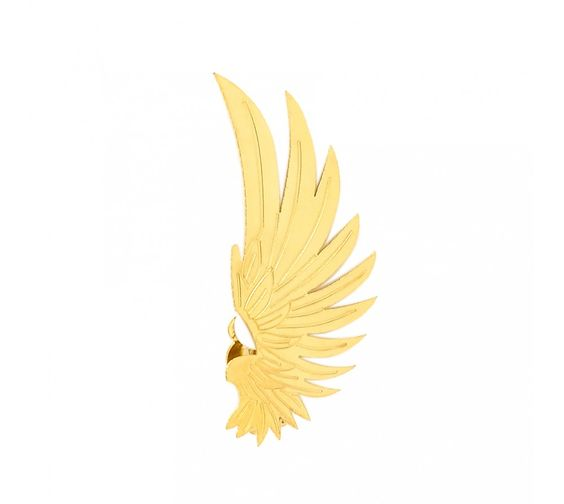 Gold Ear Cuff Jewelry - Wings Earrings