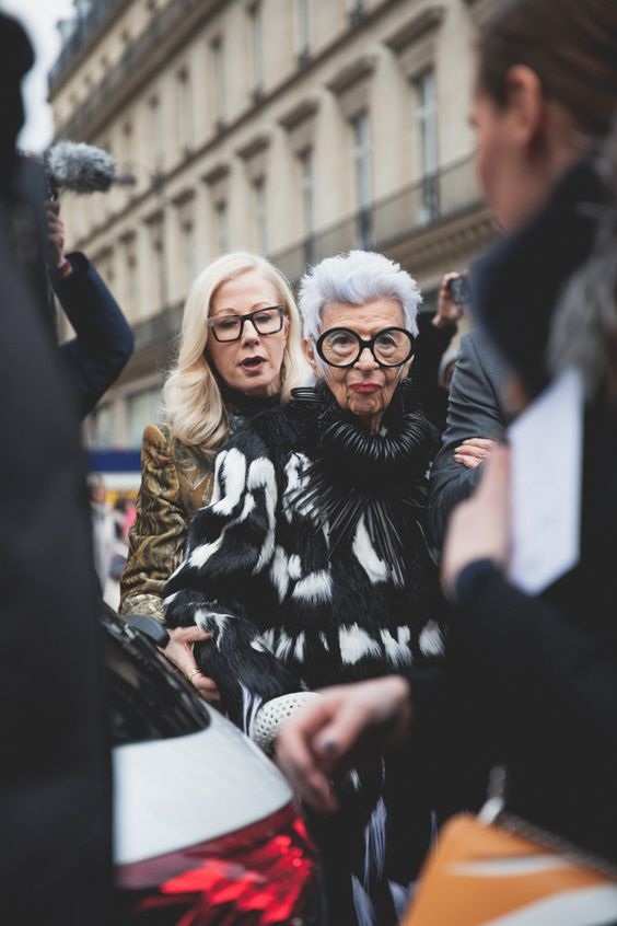 PFW AW16| P Christina Fragkou| Iris Apfel// Fur// Monochrome// Icon
