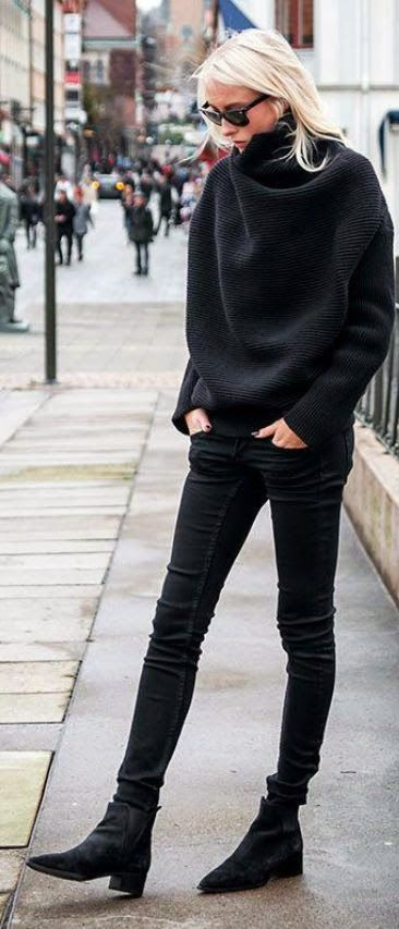 Street styles minimal black: