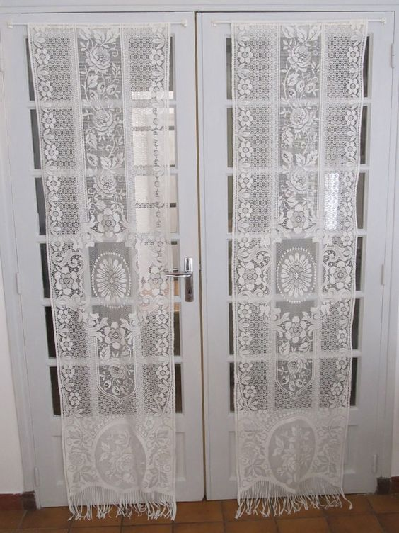 doors ivory curtains doors french room doors lace cream dining rooms