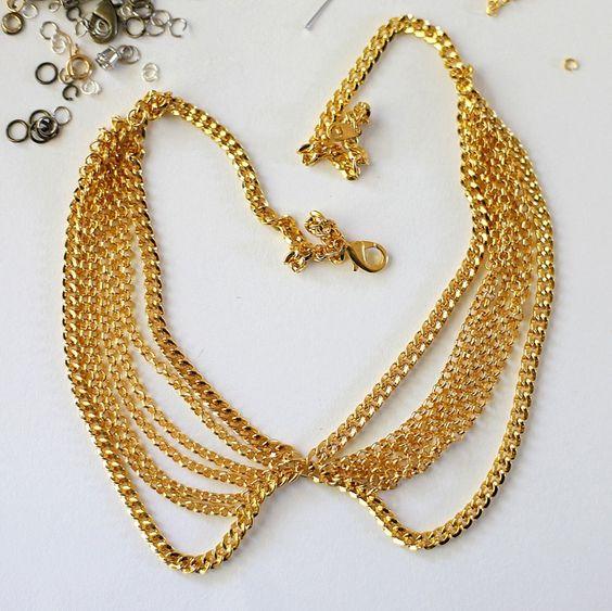 DIY collar necklace