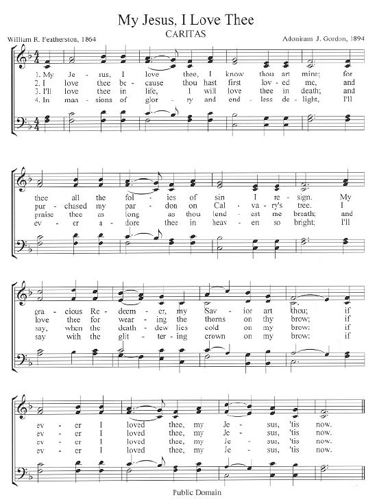 This Week's Hymn - The Center For Church Music, Songs and Hymns - great source for the history of hymns, mp3 audio of the hymn being sung, and printable score