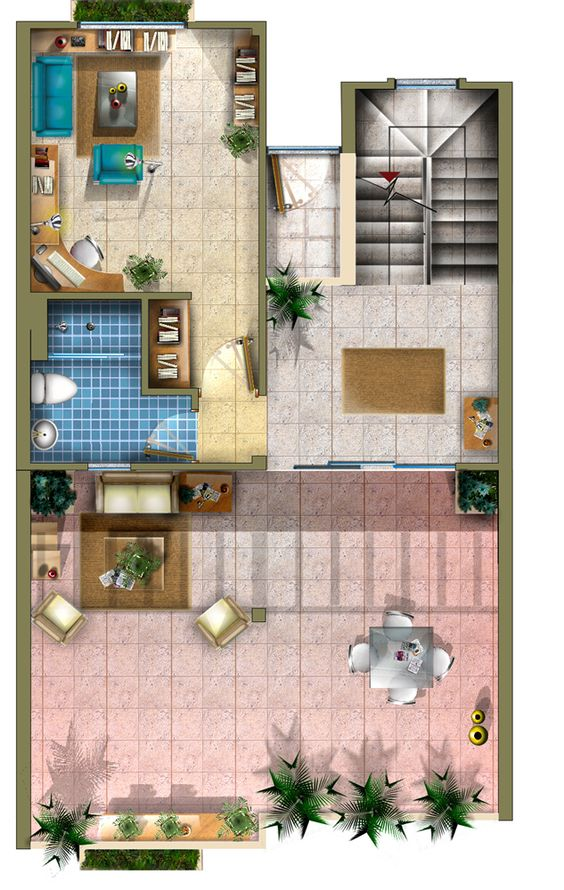 Plano 3 casa tres niveles planos para casas pinterest - Planos de casas de pueblo ...