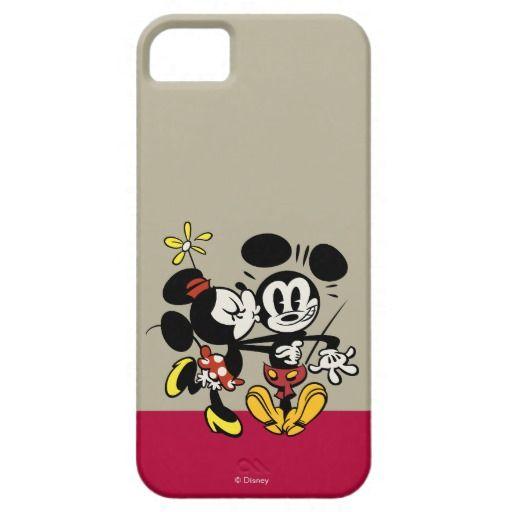 Minnie Kissing Mickey