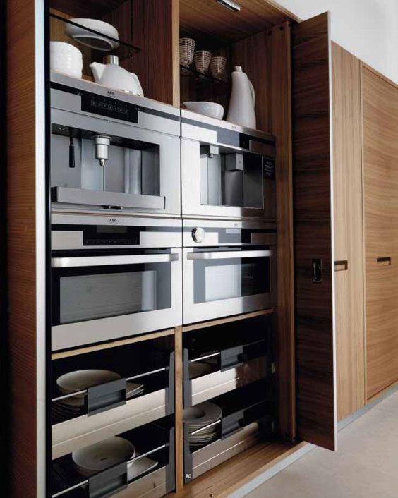 Hide everything kitchen storage. Elm kitchen CREDENZA - TONCELLI CUCINE
