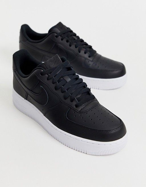 50% off coupon code new styles Nike – Air Force 1 '07 – Schwarze Sneaker mit weißer Sohle ...