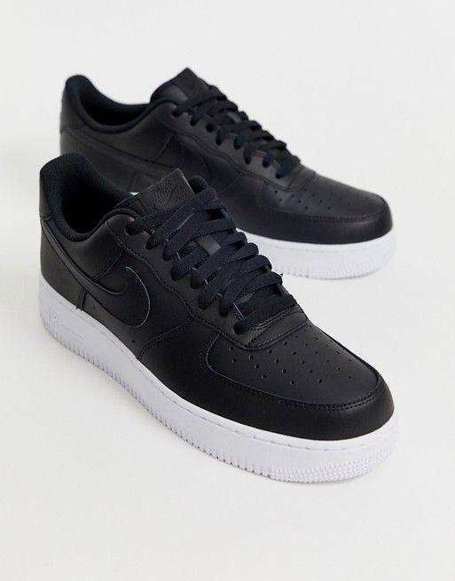 Nike Air Force One Schwarz Weiß cco