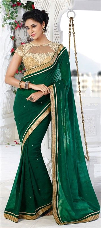 Image result for green color wedding sarees