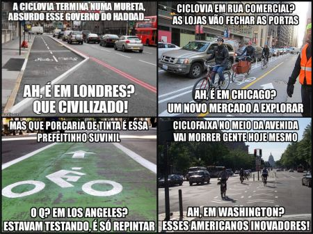 Ciclovias_Memes18_Mix - Infelizmente,valorizar o que vem de fora, em detrimento do nacional, faz parte do comportamento dos vira latas brasileiros.
