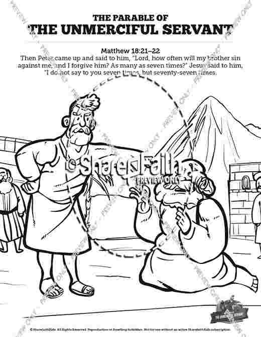 The Parable Of The Unforgiving Servant Lesson Sunday School
