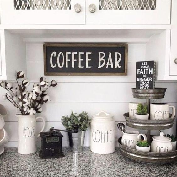 Tiered Tray Decor Ideas Farmhouse Style Stylish Kitchen Decor Modern Kitchen Wall Decor Coffee Bar Home
