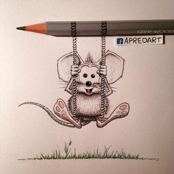 La souris Rikiki de Loïc Apreda  Dessein de dessin: