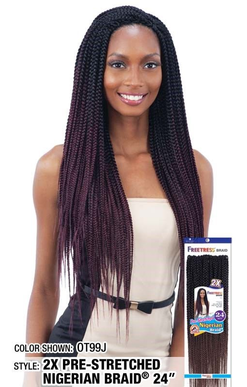 2x Nigerian Pre Stretched Braid 24 Available Colors 1 1b 2
