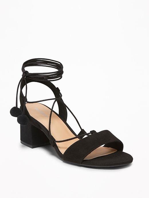 Sueded Low Block Heel Sandals for Women | Spring style | Low
